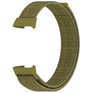 Merk 123watches Fitbit charge 3 & 4 nylon sport band - olive