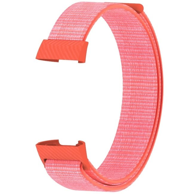 Merk 123watches Fitbit charge 3 & 4 nylon sport band - oranje