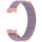 123Watches Fitbit charge 3 & 4 nylon sport band - roze zand
