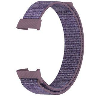 Merk 123watches Fitbit charge 3 & 4 nylon sport band - smokey mauve
