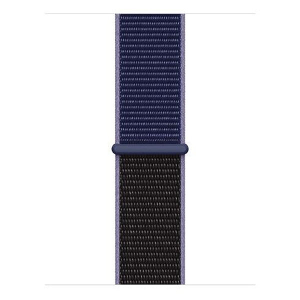 123Watches Apple watch nylon sport loop band - middernacht blauw mix