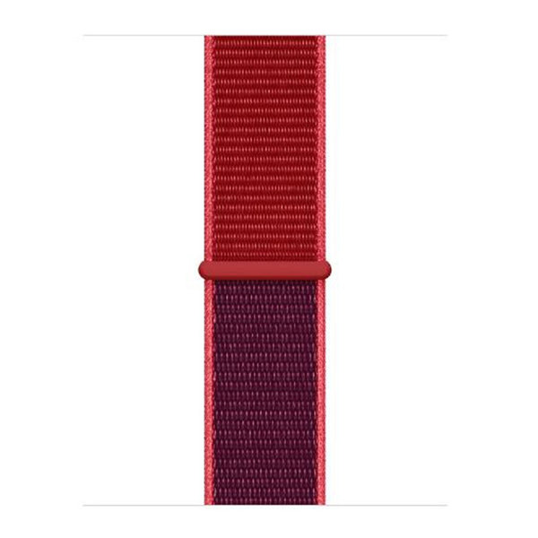 123Watches Apple watch nylon sport loop band - rood mix
