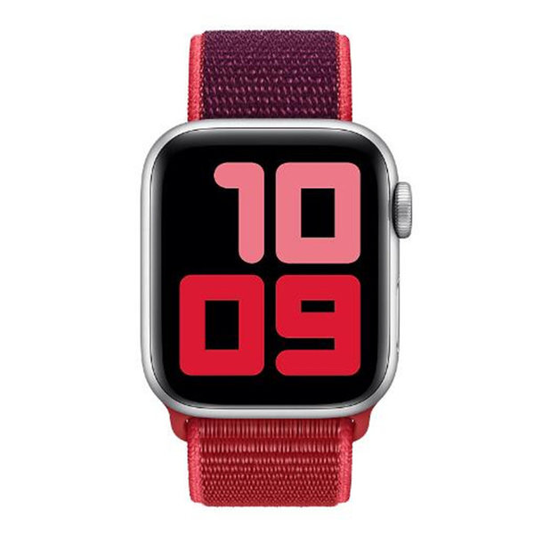 123Watches Apple watch nylon sport loop band - rouge