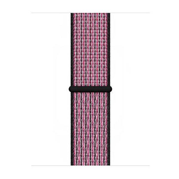 123Watches Apple watch nylon sport loop band - pink blast true berry