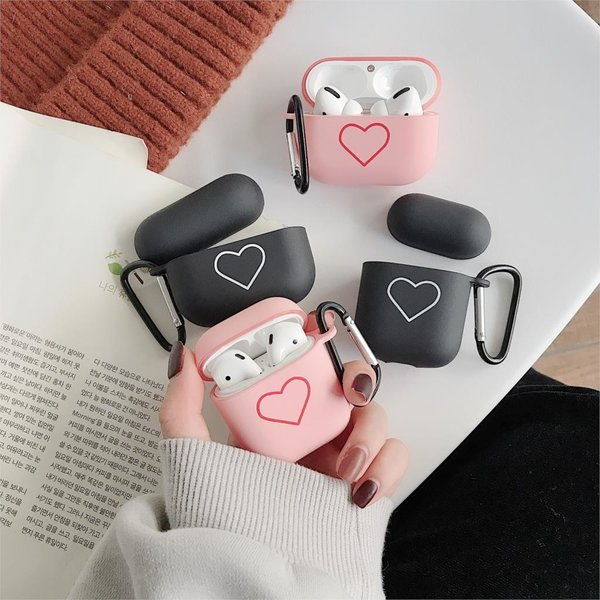 123Watches Apple AirPods 1 & 2 hard case - pink heart