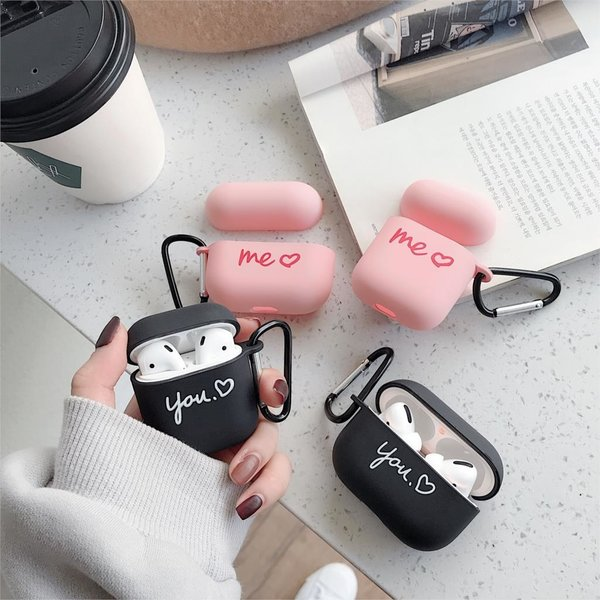 123Watches Apple AirPods 1 & 2 hard case - me roze