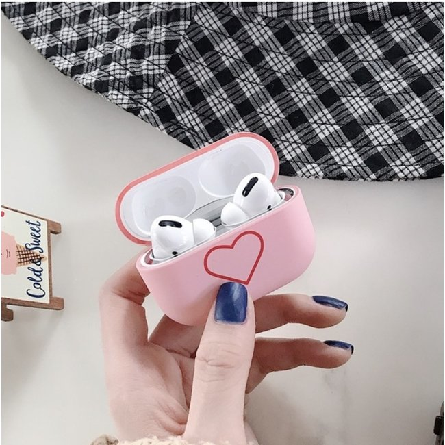 Apple AirPods PRO hard case - pink heart