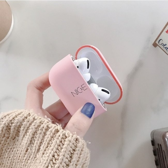 Merk 123watches Apple AirPods PRO hard case - nice roze