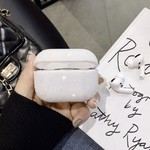 123Watches Coque Apple AirPods PRO pailleté étui rigide - blanc