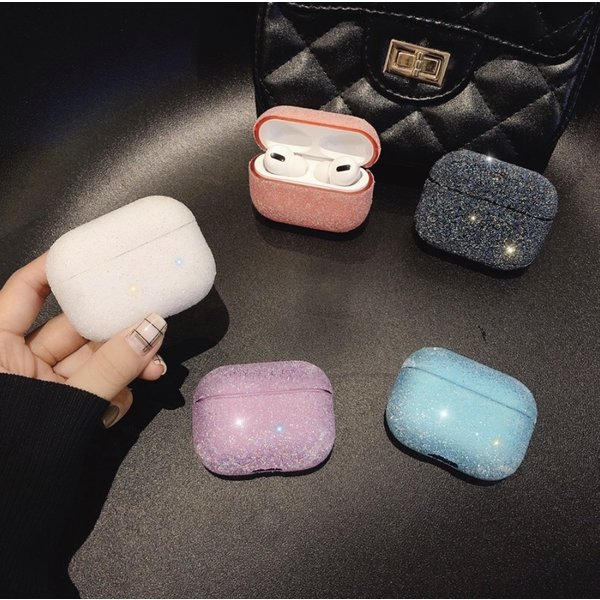 123Watches Apple AirPods PRO glitter hard case - white