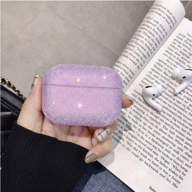 Merk 123watches Apple AirPods PRO glitter hard case - Violet