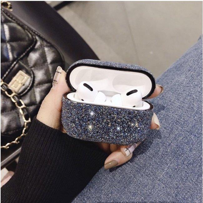 Apple AirPods PRO glitter hard case - zwart