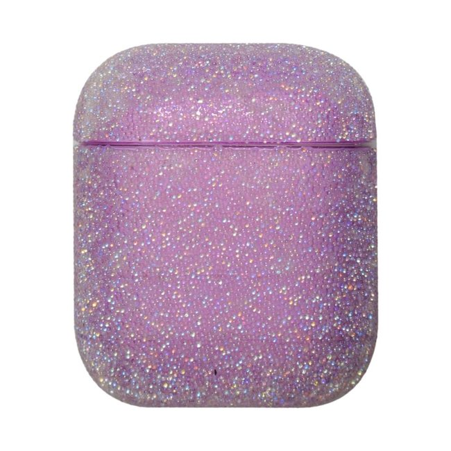 Apple AirPods 1 & 2 glitter hard case - paars