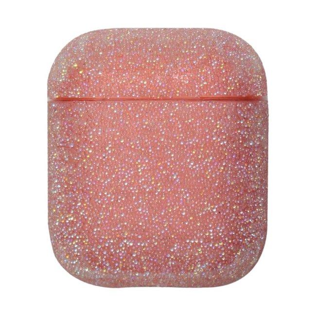 Merk 123watches Apple AirPods 1 & 2 glitter hard case - roze