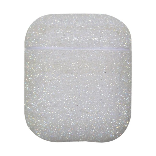 Apple AirPods 1 & 2 glitter hard case - wit