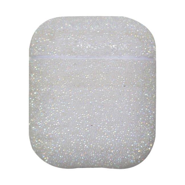 Merk 123watches Apple AirPods 1 & 2 glitter hard case - wit