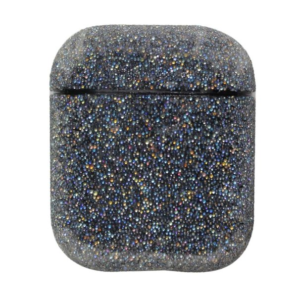 123Watches Apple AirPods 1 & 2 glitter hard case - black
