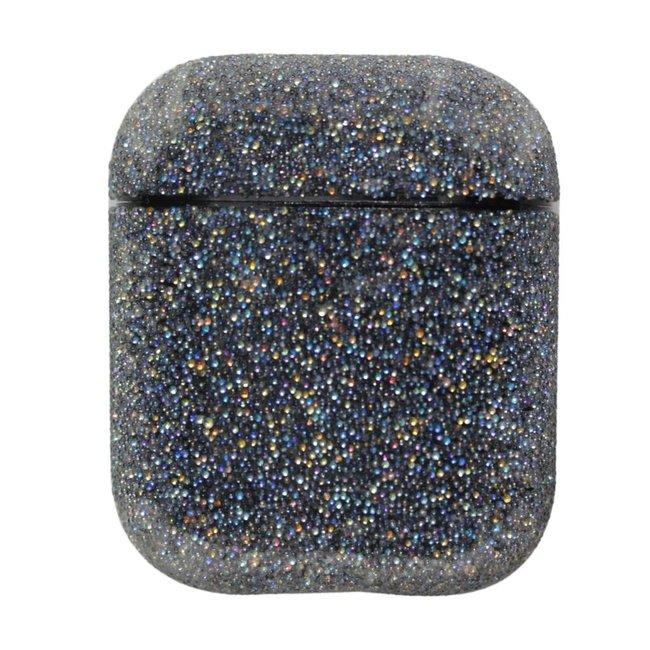 Merk 123watches Apple AirPods 1 & 2 glitter hard case - zwart