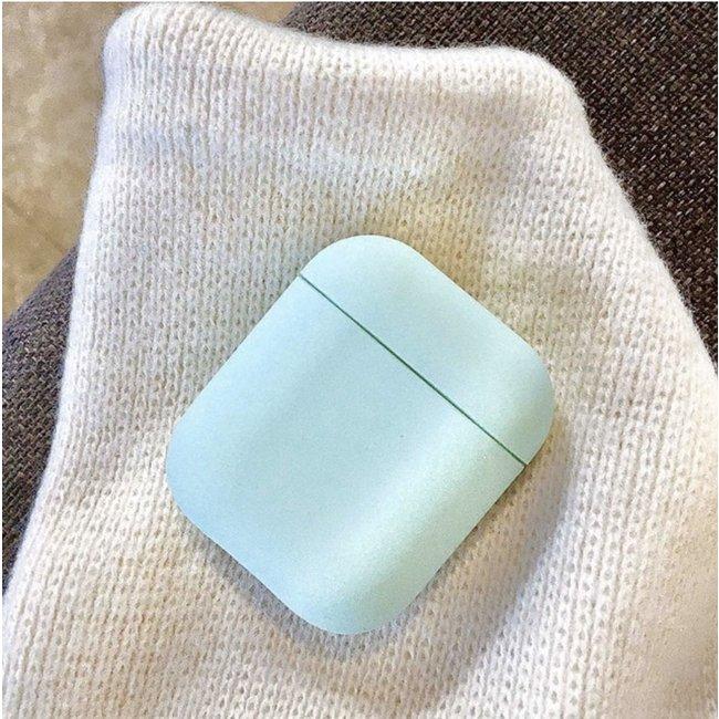 Merk 123watches Apple AirPods 1 & 2 hard case - lichtblauw