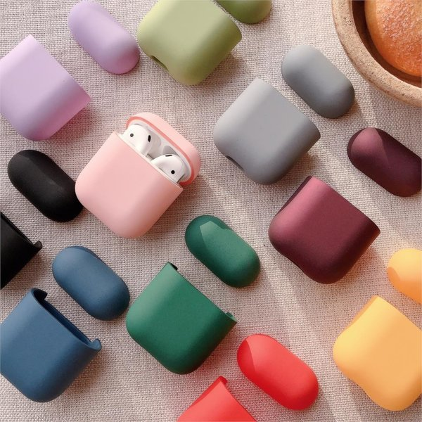 123Watches Coque Apple AirPods 1 & 2 étui rigide - beige