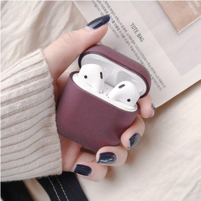 123Watches Apple AirPods 1 & 2 hard case - dark purple