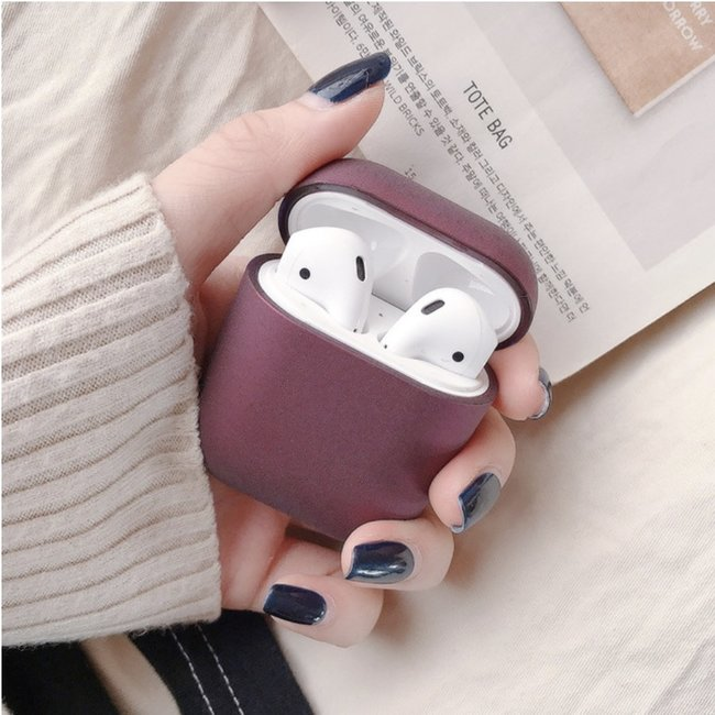 Apple AirPods 1 & 2 hard case - donkerpaars