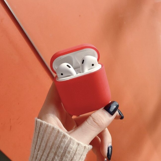 Apple AirPods 1 & 2 hard case - rood