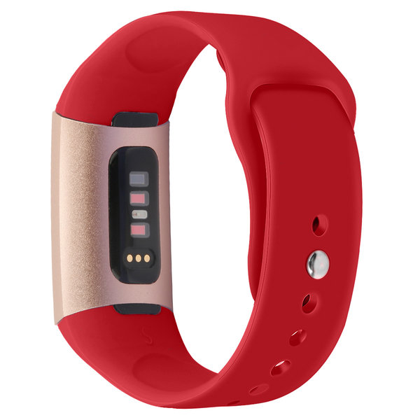 123Watches Fitbit charge 3 & 4 sport silicone band - red