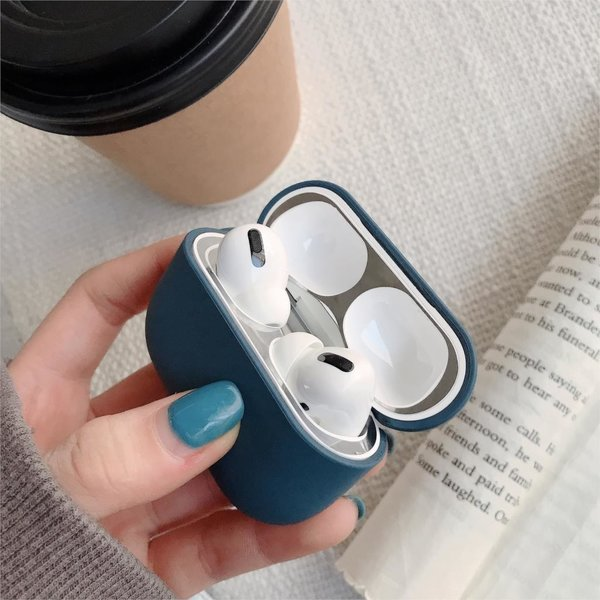 123Watches Apple AirPods PRO effen hard case - marine blauw