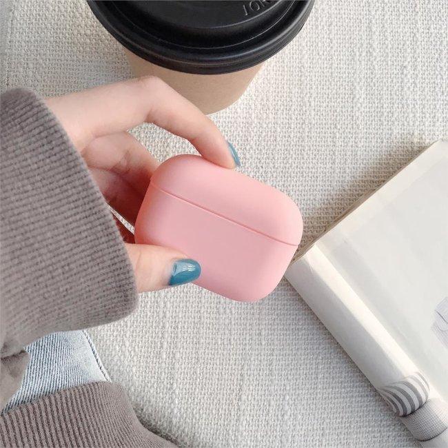 Apple AirPods PRO effen hard case - roze