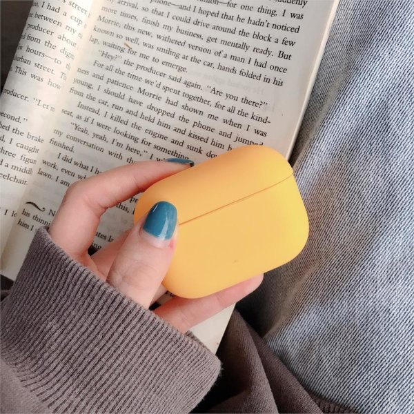 123Watches Apple AirPods PRO solid hard case - yellow