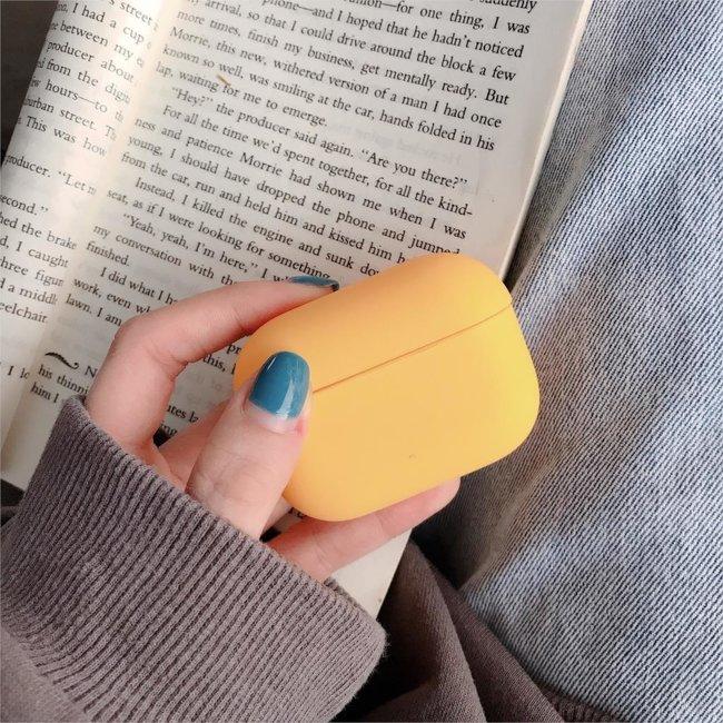 Apple AirPods PRO effen hard case - geel