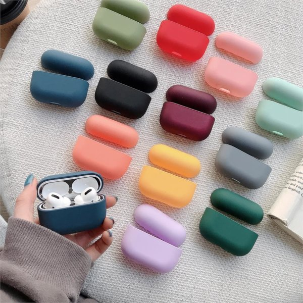 123Watches Apple AirPods PRO effen hard case - zwart