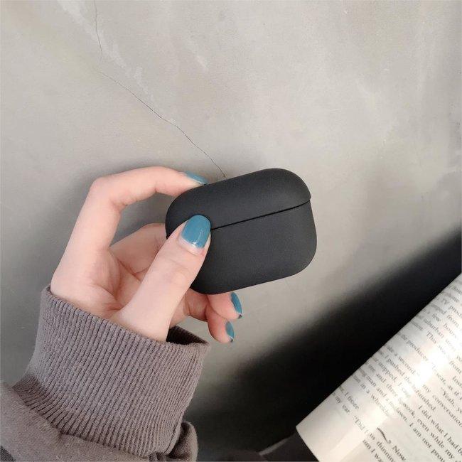 Apple AirPods PRO effen hard case - zwart