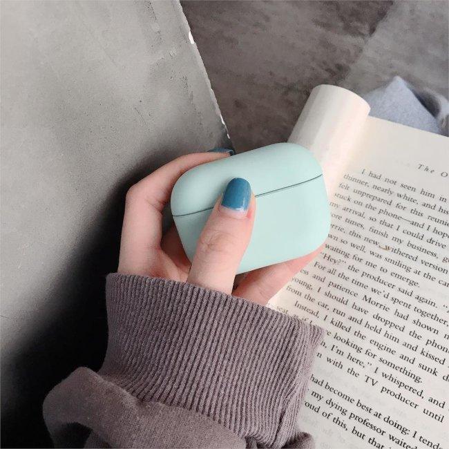 Apple AirPods PRO effen hard case - blauw