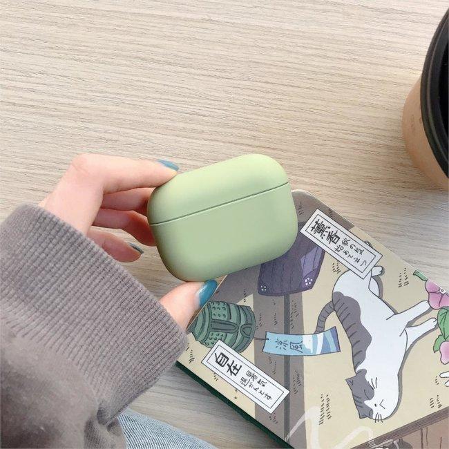 Apple AirPods PRO effen hard case - groen