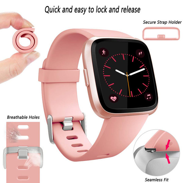 123Watches Fitbit versa sport sangle - rose