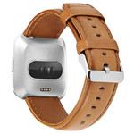 123Watches Fitbit Versa genuine leren band - lichtbruin