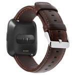 123Watches Fitbit Versa genuine leren band - donkerbruin
