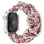123Watches Apple watch scrunchie band - flowers pink
