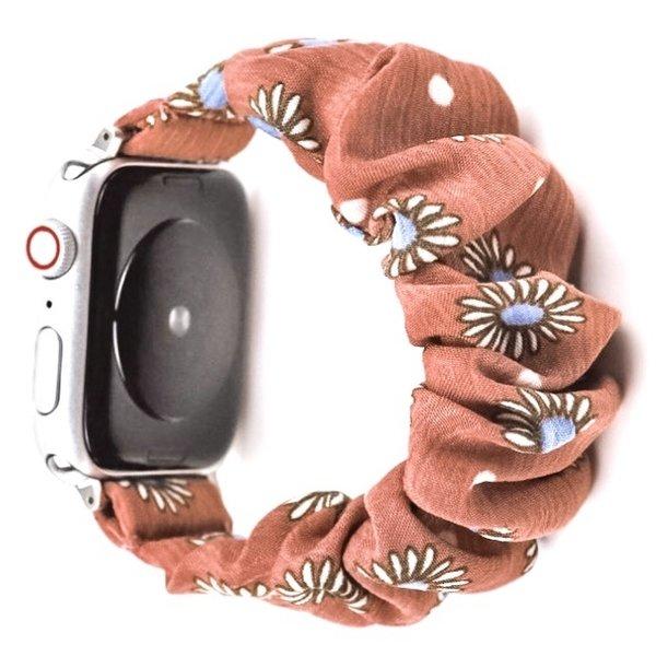 123Watches Apple watch scrunchie band - daisy