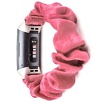 123Watches Fitbit charge 3 & 4  scrunchie band - roze