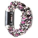 123Watches Fitbit charge 3 & 4 Scrunchie Band - des fleurs violet