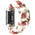 123Watches Fitbit charge 3 & 4  scrunchie band - roses