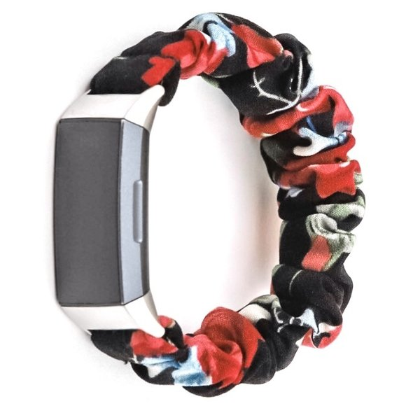 123Watches Fitbit charge 3 & 4  scrunchie band - rozen mix