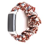 123Watches Fitbit charge 3 & 4 Scrunchie Band - des fleurs rouge