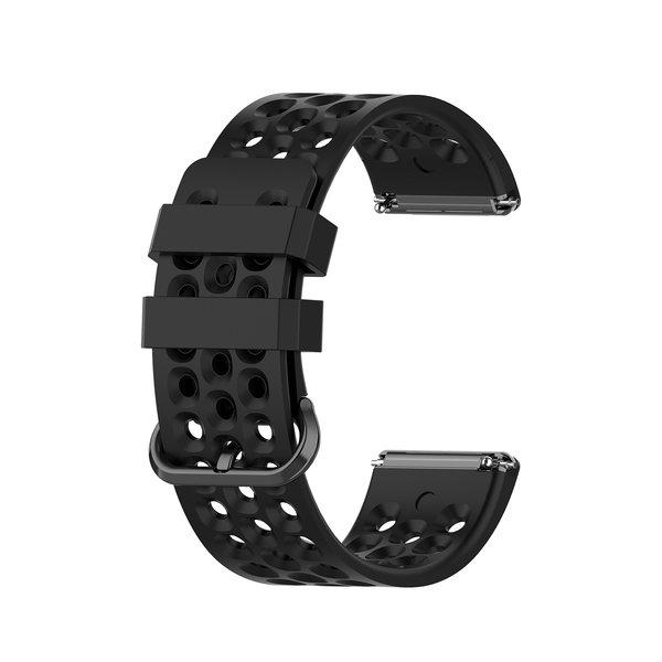 123Watches Fitbit Versa bande de points de sport - noir