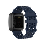 123Watches Fitbit Versa sport point band - donkerblauw