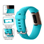 123Watches Fitbit charge 3 & 4 sport wafel band - groenblauw