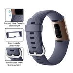123Watches Fitbit charge 3 & 4 sport wafel band - rock cyan